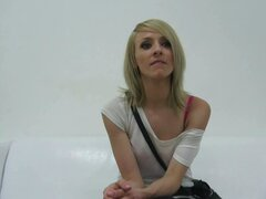 Blonde czech hottie eva in nasty casting