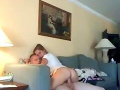 Sexy Blonde Girl Sucking And Fucking Her Boyfriend In A Homemade Video