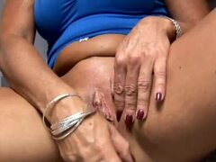 Fit granny has a wet pussy