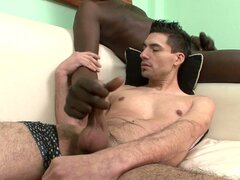White boy cock slamming for this black gay fiend