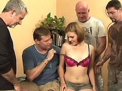 Fuckable Teen Kelsey Tyler Gets Pounded In A Gangbang