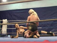 Amazing video with hot naked babes wrestling in the ring
