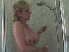 Mature Lady in the Shower - Sonia