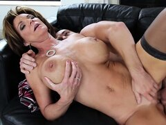 Deauxma spreads her stocking clad legs so she can be eaten and fucked