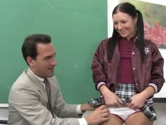 the teacher fucks schoolgirl in dress