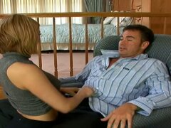 Horny blonde Amber Ashlee dreamed all day about some hot oral fucking