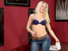 Sweet Cat the sexy blonde undresses at casting