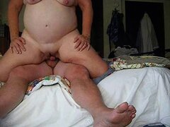 Finally chubby woman has fucked her son's friend. Homemade video.