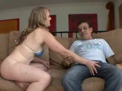 Step-dad seduced by teen tits