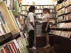 Kinky and Sexy Asian Librarian Gives a Blowjob and Gets Fucked