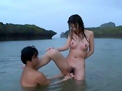Hot Outdoors Sex in the River with Japanese Beauty Rei Aoki