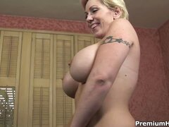 Busty mom plays fuck game