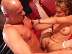 MILF fucks her husband's boss