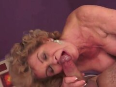 Vigorous granny blowjob...
