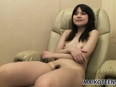 The sweet Asian girl with a hot slender body makes the most of her time with a vibrator