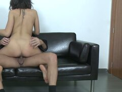 Spanish girl loves it in her ass while doing casting
