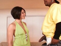 Petite brunette MILF gets stretched in her skinny twat by Shorty Mac's BBC