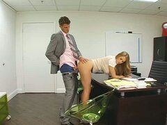 Boss enjoying his secretary's very taut gazoo fill
