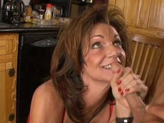 Friendly busty milf Deauxma blows young cock and fucks it missionary style