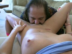 Superb blondie enjoys older guy
