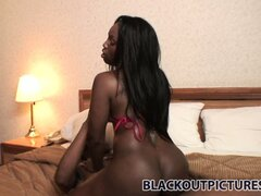 Jada Fire has him driving his big black cock in and out of her tight shaved pussy