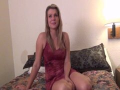 blonde cheerleader strange object pussy insertions will it fit