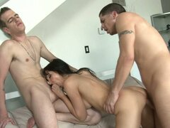 Brunette whore Diana Prince has orgy party