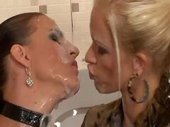 Massive load of cum in her mouth