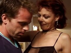 Horny brunette mature gets fingered, blows, and gets nailed by younger dude