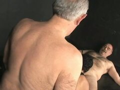 Nasty daddies mature gay threeway
