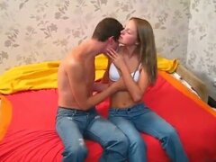 Horny teen couple first tiime drilling