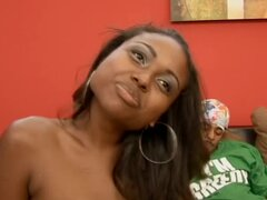 Lovely Ebony Girl Gabbi Elena Enjoying a Hardcore Fuck
