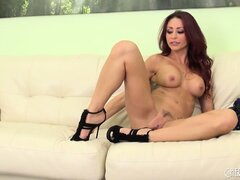 Busty brunette MILF Monique Alexander makes good use of the toy she has
