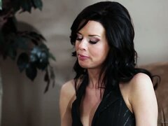 Veronica Avluv and Nina James kissing each other in a lesbian makeout scene