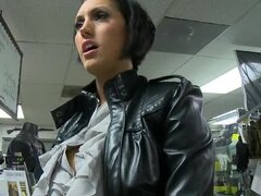 Busty Brunette Dylan Ryder Knows About Guns And Big Cocks