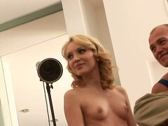Nataly Von takes us behind the scenes when she has two cocks