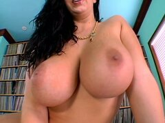 Insatiable whore Gianna blows big white dick...