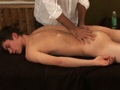Hot amateur gay twink naked and ready for some hot massage action
