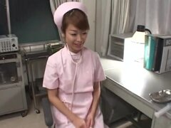 Japanese nurse loves to swallow