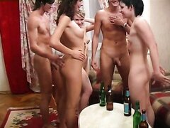 Drunk orgy movie with horny coeds. Part 8