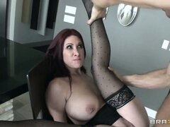 Red-headed MILF loves sucking cock and having that pussy fucked deep