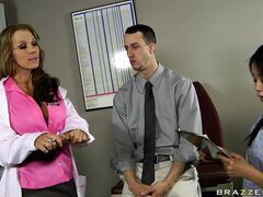 This hot doctor loves to give out blowjobs to her hung patients