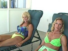 Lesbian Threesome With Hot Mature Blondes And Dildos