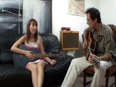 Naughty young redheaded music student wants to learn how to play his cock