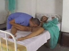 Hot blonde patient gets a visit from the doctor and his hard cock