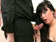 Old perv teacher bangs a young brunette schoolgirl
