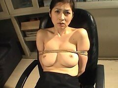 Yuko Kazuki Has Her Big Natural Tits Played With As She's Tied Down
