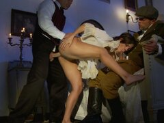 Two gentleman have anal with glamorous whore