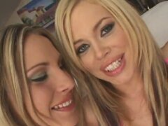 Two gorgeous blonde floozies please cocks