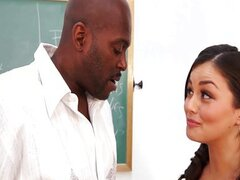 Allie Haze interracial fuck at school